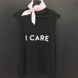 Tops - I Care Muscle Tank Top